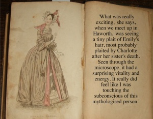 You can view Charlotte's wedding clothes and, according to Ms. Picardie, a lock of Emily's hair! OOOO - lovely!