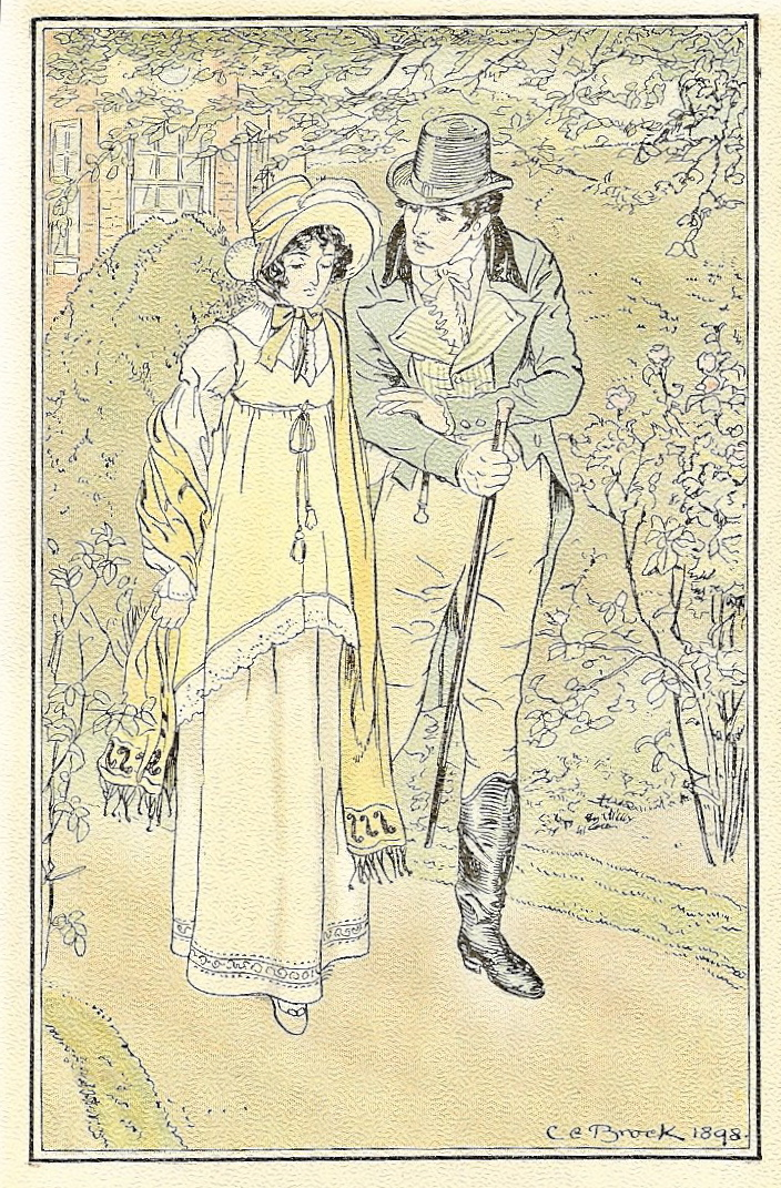 An illustration from an early 20th century edition of Emma