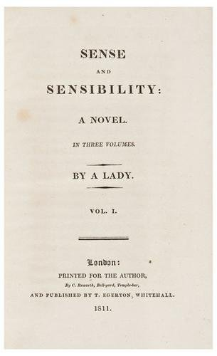 A First Edition of Sense and Sensibility