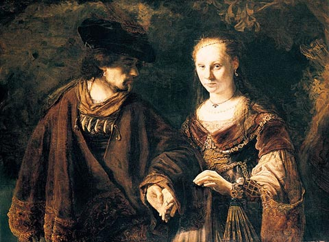 ''The Betrothal', c.1640-50', by School of Rembrandt