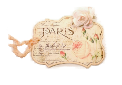 Paris Rose Tag